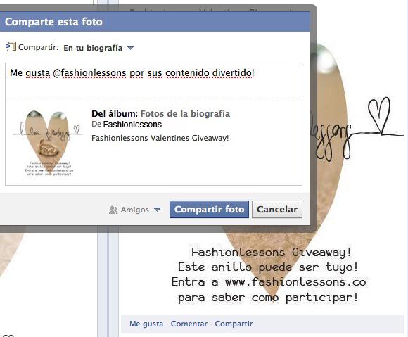 Comparte la foto del muro de Fashionlessons y haz tu comentario.