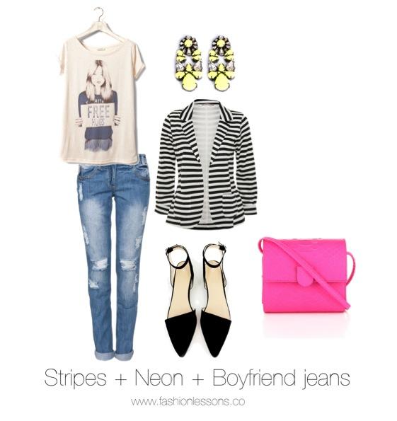 Striped blazer looks trends