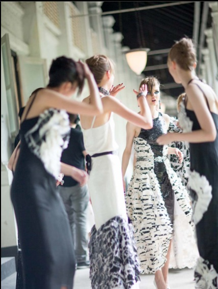 chanel cruise 2014 backstage